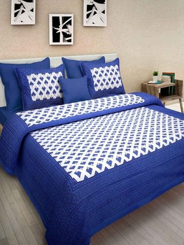 Nari - Cotton Printed Double Bedsheet With Pillow Cover-P96JP80F8C9A5