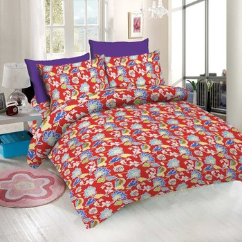 WCL - Cotton Printed Double Bedsheet With Pillow Covers-I34JPB5C3A82C