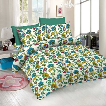 WCL - Cotton Printed Double Bedsheet With Pillow Covers-I34JP803E87D4
