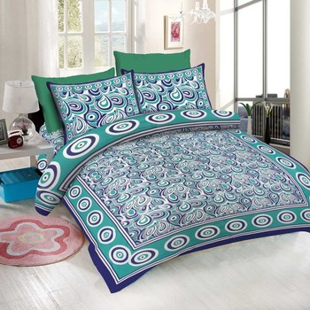 WCL - Cotton Printed Double Bedsheet With Pillow Covers-I34JP840ACDA4