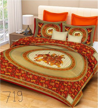 Priyam - Cotton Printed Double Bedsheet With Pillow Cover-Z21JP5C7DDB03