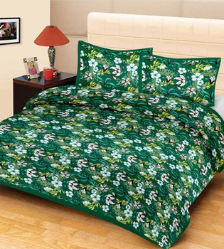 Priyam - Cotton Printed Double Bedsheet With Pillow Cover-Z21JPE603FED9
