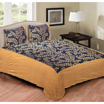 Cotton Printed Double Bedsheet With Pillow Cover-P72JP557F29D2