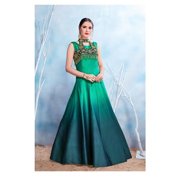 Satin Embroidery Gown-160ST4B395C0C