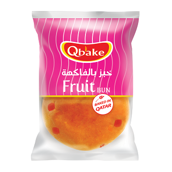 Qbake Fruit bun 1 pc
