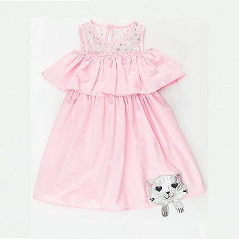 Nice Fancy Pink Solid Fit and Flare Dress