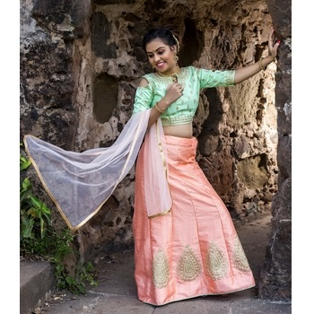 Art Silk Embroidery Girls Unstitched Lehenga Choli-476STB1795FDB