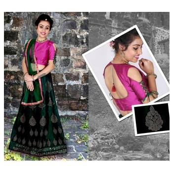 Art Silk Embroidery Girls Unstitched Lehenga Choli-476STA2DB2C36