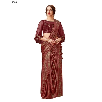 Maryam - Lycra Ready To Wear Saree-017ST6B2353BB