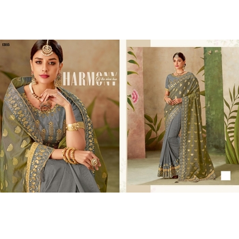 Maryam - Silk Zari Work Saree With Blouse-017ST2F1919B1