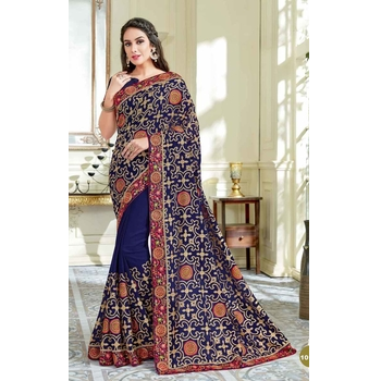 Georgette Festive Wear Saree With Blouse-017ST21FD137C