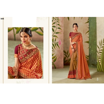 Maryam - Silk Zari Work Saree With Blouse-017ST35470AD7