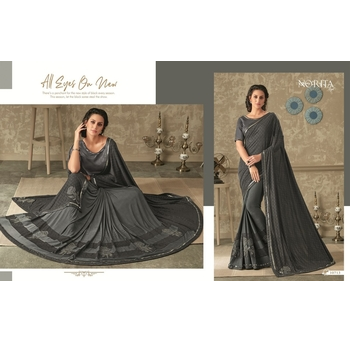 Maryam - Lycra 3 D Embellishment Saree With Blouse-017STB1DB8325