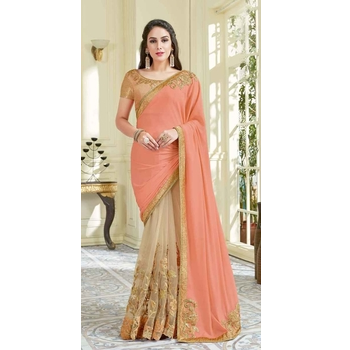 Net Lycra Party Wear Saree With Blouse-017STACA78BC1