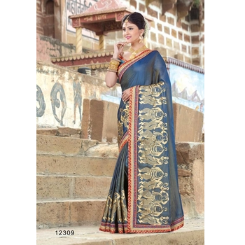 Silk Embroidery Saree With Blouse-017STCDC570D6