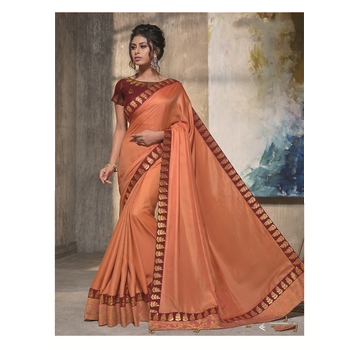 Maryam - Satin Silk Embroidery Saree With Blouse-017STF583DFD8
