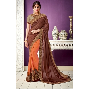 Georgette Saree With Blouse-017STA73F0227