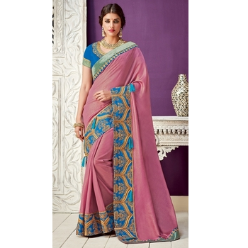 Dual Tone Georgette  Saree With Blouse-017ST700FAE70