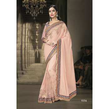 Fancy Georgette Net Saree With Blouse-017ST5F0A3E95