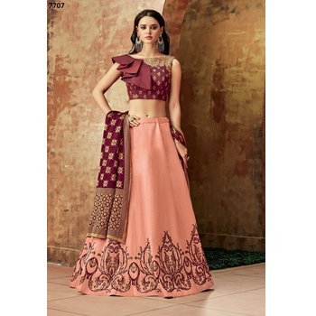 Maryam - Silk Embroidery Lehenga Choli-017STDCC237C1
