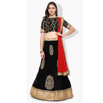 Net Embroidery Unstitched Lehenga Choli-160ST42580FC7