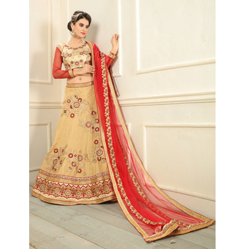 Silk A-Line Embroidery Unstitched Lehenga Choli-160STAB3B23D6