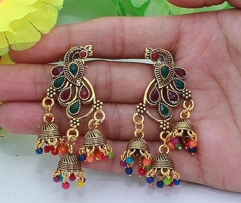 Greeny - Alloy Multi Color Earrings-210STE39348C6