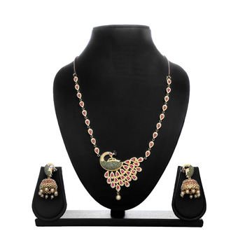 Greeny - Alloy Multi Color Necklace Sets-210ST95277D28