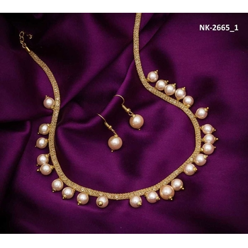 Alloy Gold And White Necklace Set-175ST5DA239CE