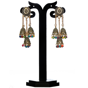 Greeny - Alloy Multi Color Earrings-210ST8A0F3395