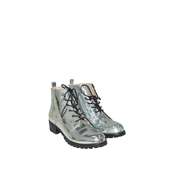 Mellow Yellow Flat Boots Calouise Silver