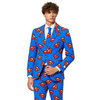 Men's Suit With Tie, Superman