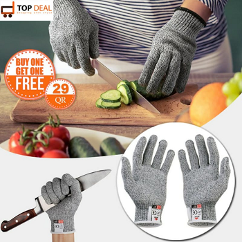 Anti Cut Hand Gloves (Buy 1 Get 1 Free)
