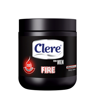 Clere Body Cream - For Men Fire 450 ML
