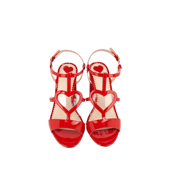 Mellow Yellow Heel Sandals Dulyla Red