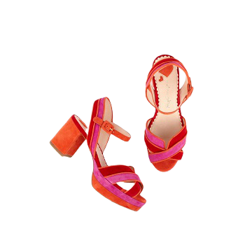 Mellow Yellow Heel Sandals Dadyl Red