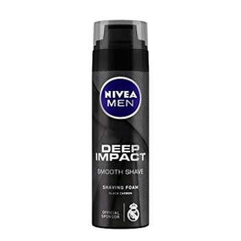 Nivea Men Deep Smooth Shaving Foam Black Carbon 200 Ml