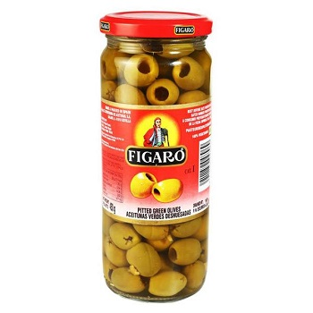Figaro Pitted Olives Green 220Gm
