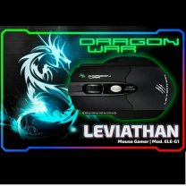 Dragon War Gaming Mouse Leviathan 3200 DPI with Mouse Pad Black