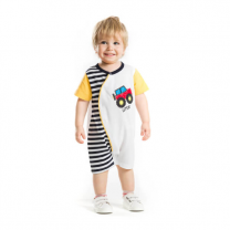 Raw Let's Go Truck Multi-color Babysuit