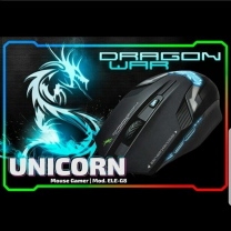 Gaming Mouse Unicorn LED Silent 3200 DPI With Mouse Pad Black