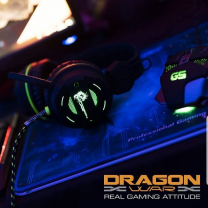 Dragon War Gaming Headset Revan Lighting Effect Black