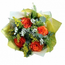 Enticing Orange Roses Bouquet