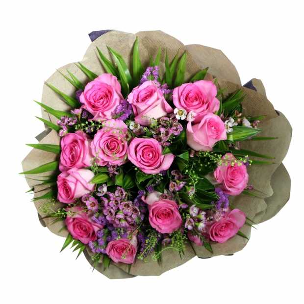 Deluxe Pink Roses Bouquet