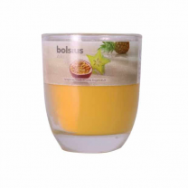 Bolsius Glass Scented  Yellow Candle