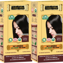 100% Botanical Hair Colour Hypoallergenic-Soft Black - 120GM