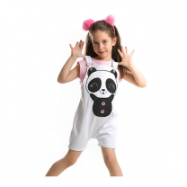 Raw Beyaz Panda Gabardin Pink T-Shirt With White Short
