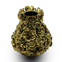 Metallic Gold Colour Vase Medium