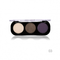 Party Queen Artist Trio Eyeshadow Palette 8 Styles Shimmer Matte Bronze Eyeshadow Makeup Natural Naked Smokey Glamour Eye Shadow 03