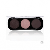 Party Queen Artist Trio Eyeshadow Palette 8 Styles Shimmer Matte Bronze Eyeshadow Makeup Natural Naked Smokey Glamour Eye Shadow 06